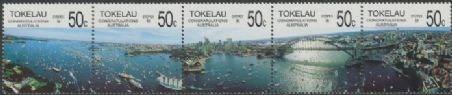 TOK SG154a Bicentenary of Australian Settlement strip of 5